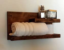 Wall Mounted Wooden Shelves by Bathroom Shelf Etsy