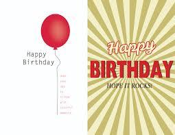 Single Invitation Cards Extraordinary Single Birthday Card Template Balloons Floating Rock