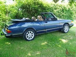 saab convertible blue saab 900s 2 0 lpt convertible 1992 k reg 96 213 miles automatic