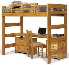 wooden loft bunk bed with desk 25 awesome bunk beds with desks perfect for kids