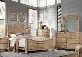 king poster bedroom set laurel greenish gray view sand beige 5 pc king poster bedroom