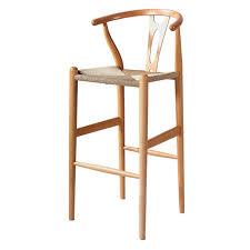 wooden wishbone chair bar stool hans wegner y chair solid beech