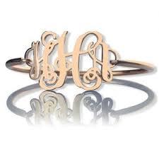 Gold Monogram Bracelet Personalized Monogram Bracelets