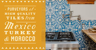 Kitchen With Backsplash Pictures Custom Eco Friendly Hand Crafted Cement U0026 Clay Tiles Clay Imports