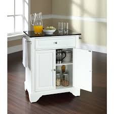 crosley furniture kitchen cart crosley furniture kf30024bwh black granite top bun compact