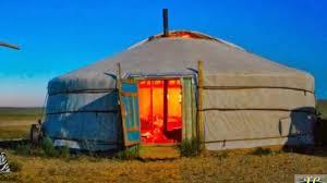 Yurt House Traditional Portable Habitation Mongolian Yurt Ger Youtube