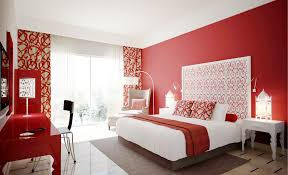 Colorful Bedroom Designs by Bright Red Paint Colors