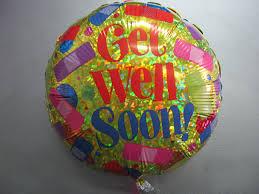 balloons get well soon helium balloon get well soon