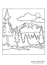 nature scene coloring pages forest scene coloring page print color fun