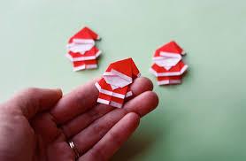 How To Make A Origami Santa - make a tiny origami santa how about orange