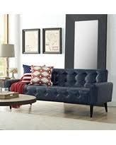 faux leather blue sofas u0026 loveseats bhg com shop