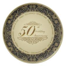 50th wedding anniversary plates custom wedding anniversary plates