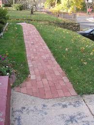 garden brick walkway for simple outdoor design with how do you