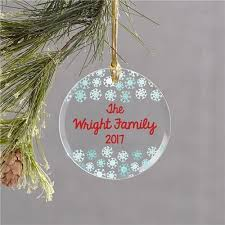 personalized snowflake glass ornament cece me home and