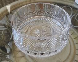 Vintage Waterford Irish Crystal Lismore Bowl By Birneycreek Gorgeous Waterford Irish Cut Crystal Bowl Lismore Pattern