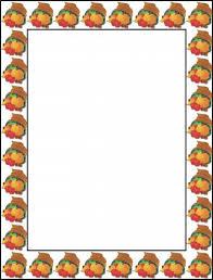 thanksgiving page border clipart clipartxtras