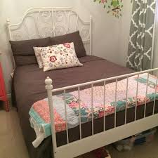 find more white ikea leirvik double bed frame 150 obo for sale