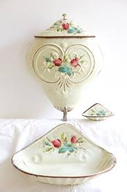 Shabby Chic Soap Dish by Antique French Enamel Floral Water Fountain By Barcelonadecolab