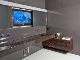 fernseher für badezimmer de 25 bedste idéer inden for edelstahl waschbecken på
