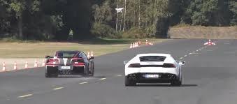 corvette vs lamborghini drag race monday c7 corvette z06 stomps a poorly driven