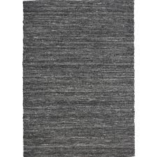 Black And Beige Area Rugs Opal Modern Area Rug In Grey Or Black Made Of Leather Scan