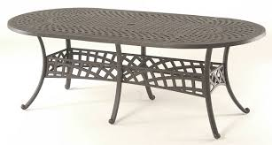 oval aluminum patio table berkshire by hanamint luxury cast aluminum patio furniture 42 x 84