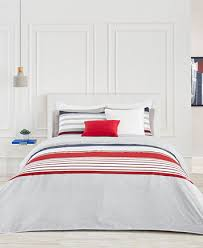 lacoste home auckland red full queen duvet cover set bedding