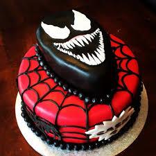 black venom spiderman cake desserts baking cakes