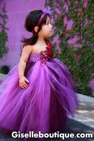 purple toddler flower dresses