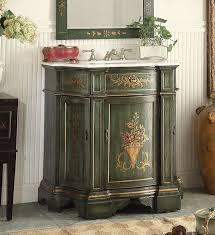 35 inch bathroom vanity tuscan style hand painted dark vintage