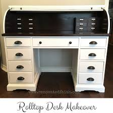 Contact Paper Desk Makeover The Right Way To Refinish A Rolltop Desk Renovated Faith