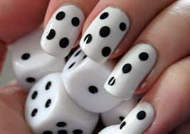 nail designs dice cool nail art ideas fingernail design ideas