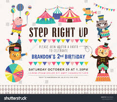 many stock birthday party invitation card vector creation kids birthday party invitation card circus stock vector 632475644