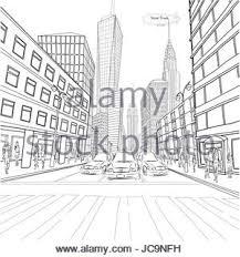 london skyline silhouette hand drawn sketch vector illustration