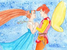 thumbelina cornelius watercolor painting thumbelina