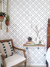 wall stencils for bedroom stencil or wallpaper can you tell the difference stylemutt