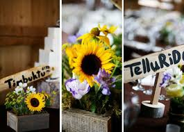 sunflower wedding decorations sunflower wedding bouquets centerpieces mywedding