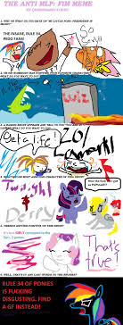 Mlp Fim Meme - anti mlp meme by flakyisanazi on deviantart