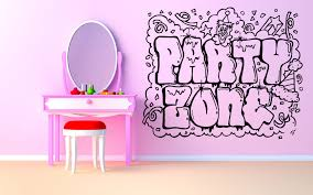 wall room decor art vinyl sticker mural decal party zone graffiti