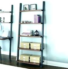 leaning wall shelves modern living room with wooden cherry 3 tier