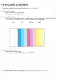 print test color page
