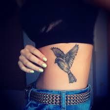 Bird Flying Tatoo Flying Bird On Side Rib Tattooshunt Com