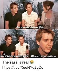 Real Life Memes - are you twins in real life operksofemuggle no it s quite a weird
