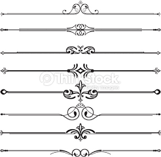 eight gorgeous ornamental rule lines vector thinkstock