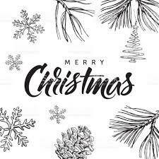 merry christmas modern merry christmas modern calligraphy lettering and hand drawn
