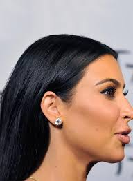 hair bangs tucked ear 50 best kim kardashian hairstyles