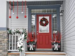 Home Decor Balls Interesting Gray Combined With Red Color Of Entrance With Front
