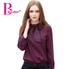 bow tie blouse plus size plus size plaid shirts sleeve bow tie
