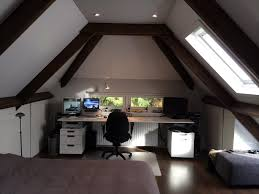 attic workspace with great features namely that minimal