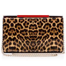 vanité clutch brown patent calfskin handbags christian louboutin